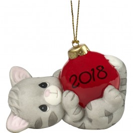 Precious Moments 2018 Dated Cat Figurine
