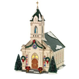Our Lady of Grace Church Snow Village